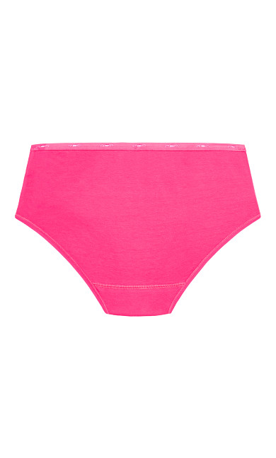 Fashion Cotton Modern Brief - hot pink