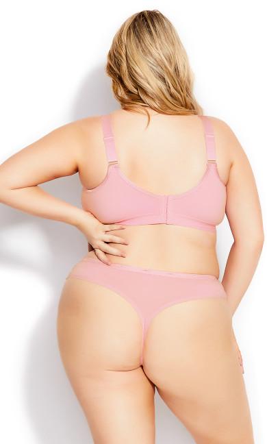 Fashion Cotton Bra - sweet pink