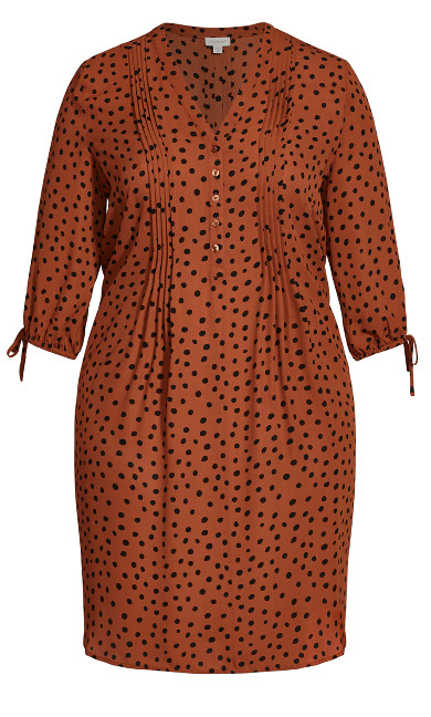 Woven Shirt Dress - spice