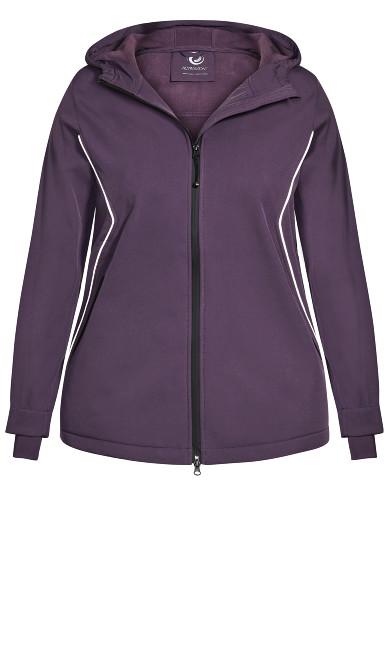 Zip Hood Mid Jacket - purple
