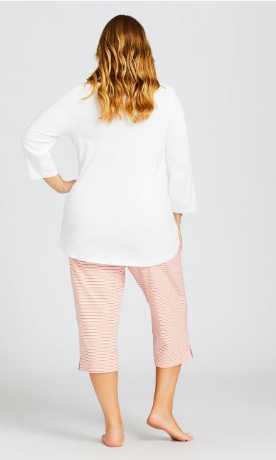 Ponte Capri Sleep Pant - rose stripe