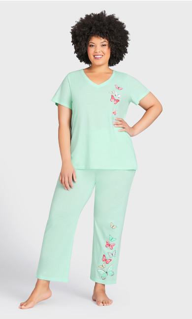 Plus Size Blushing Sleep Pant - mint