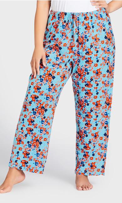 Nature Print Sleep Pant - blue floral