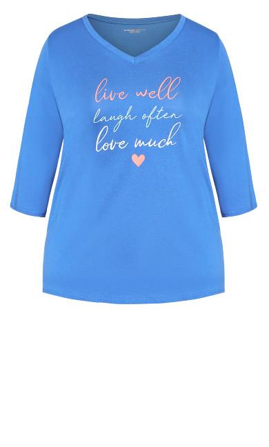 Love Laugh Sleep Top - blue