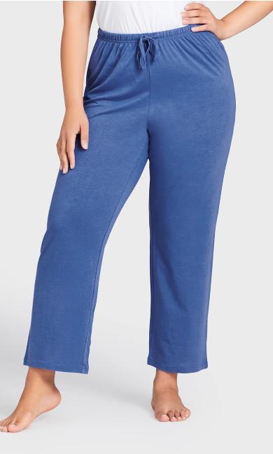 Plain Sleep Pant - cobalt