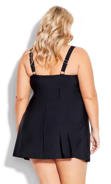 Empire Swim Dress - black