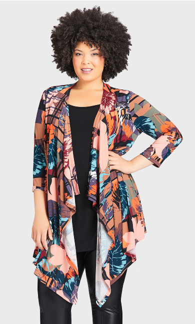Tea Tree Duet Tunic - multi leaf