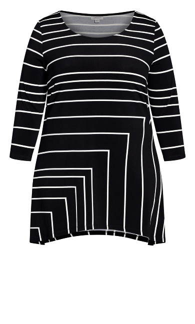 Cottage Grove Tunic - black stripe