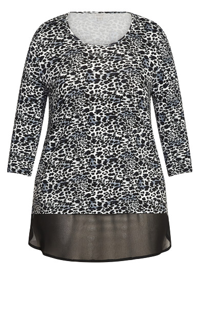 Albany Print Tunic - gray animal