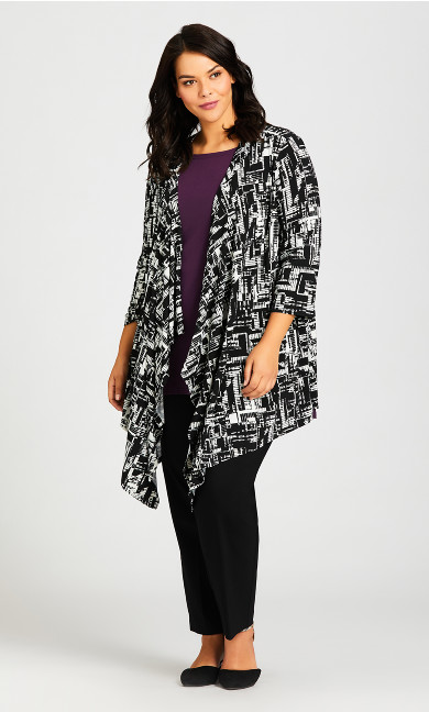 Plus Size Shadow Lane Cardi - black graphic