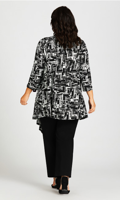 Shadow Lane Cardigan - black graphic