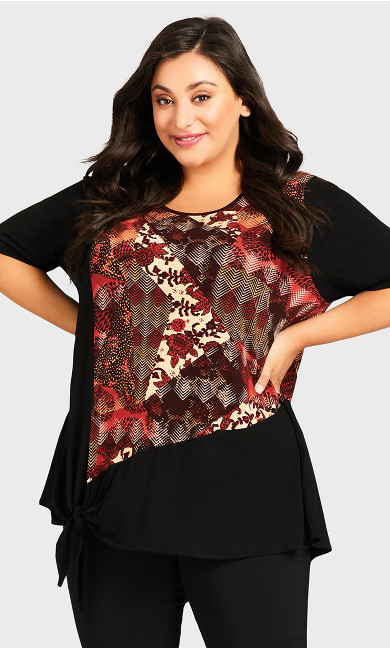Plus Size Furham Top - spice