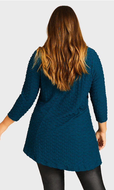 Carlton Close Tunic - deep turquoise
