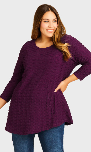 Carlton Close Tunic - mulberry