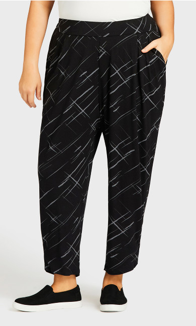 Print Jogger Pant Black - average