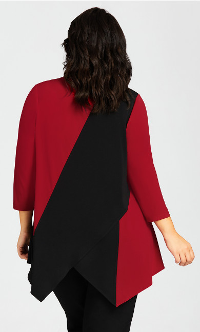 Hampsted Tunic - black red