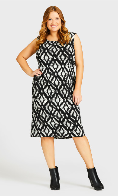 Paige Duet Dress - black ikat