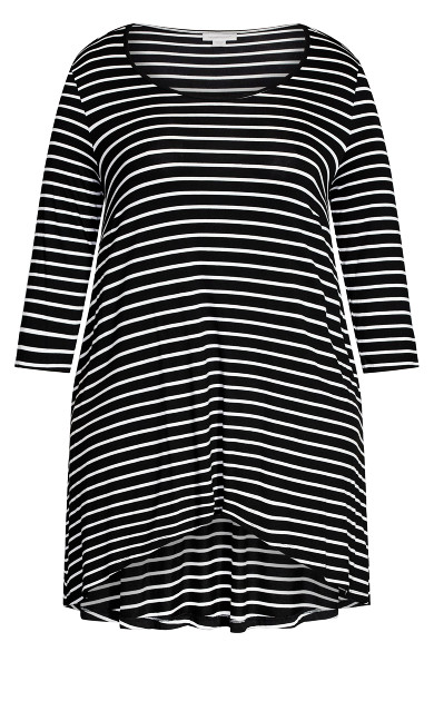 Kissing Gate Tunic - black stripe