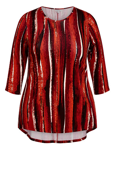 Bays Water Tunic - spice stripe