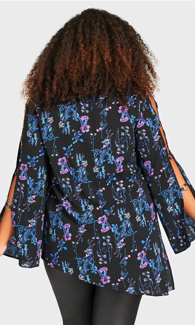Kallie Print Top - bluebell