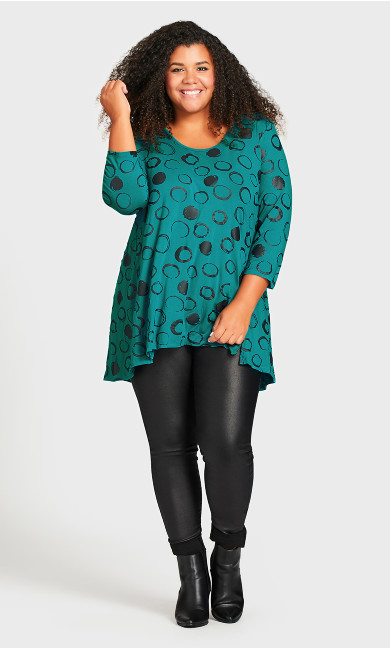 Windsor Spot Tunic - turquoise
