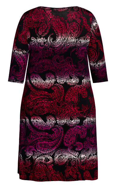 Brookline Print Dress - berry paisley