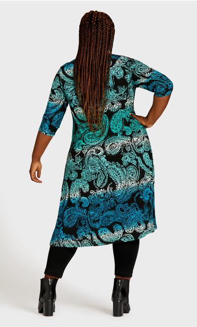 Brookline Print Dress - turquoise paisley