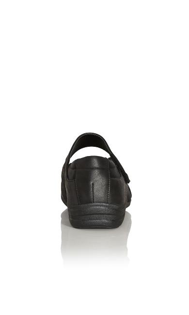 Mary Jane Comfort Flat - black