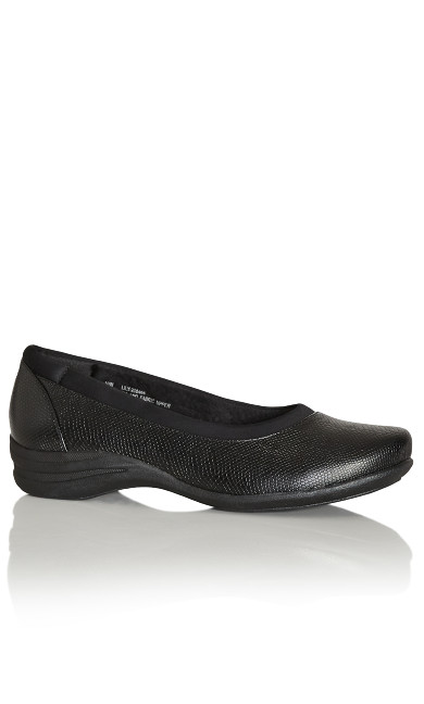 Plus Size Lily Comfort Slip On - black