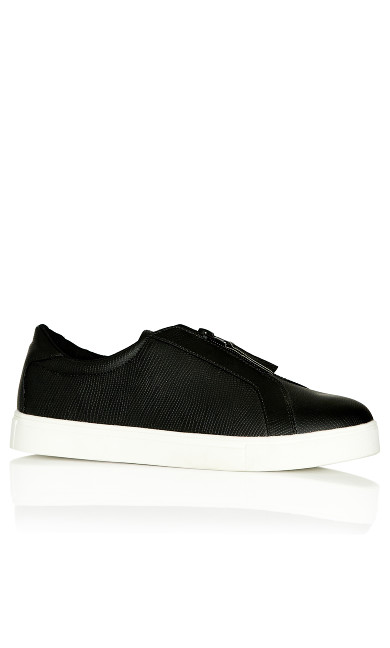 Plus Size Jill Slip On - black