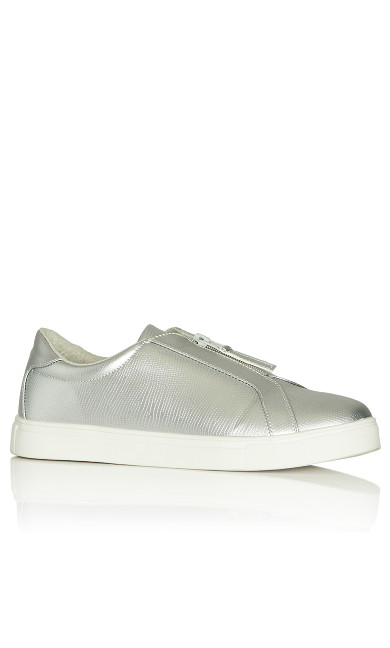 Plus Size Jill Slip On - silver