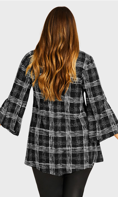 Camden Walk Tunic - black check