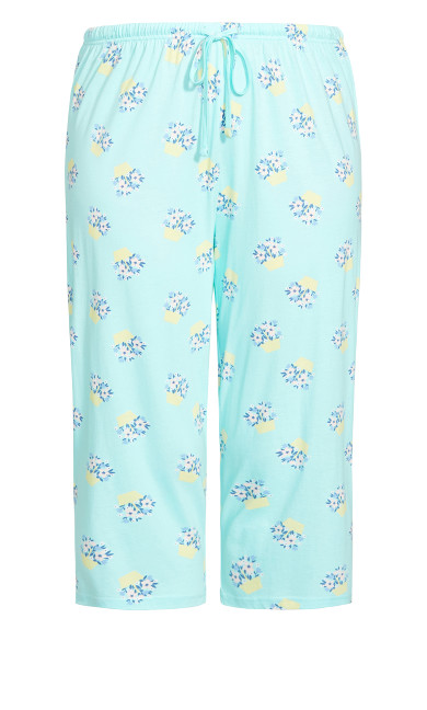 Print Sleep Bottoms - aqua