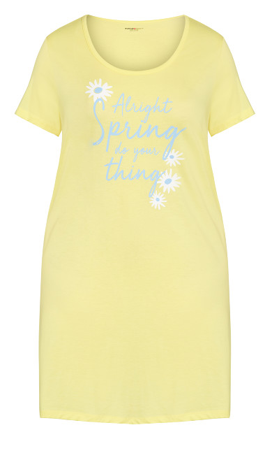 Print Sleep Shirt - yellow