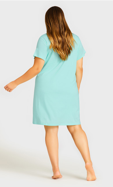 Spring Sleep Shirt - mint