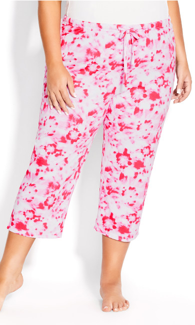 Print Sleep Pant - pink tie dye