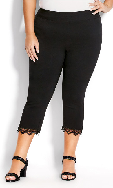 Super Stretch Lace Capri - black