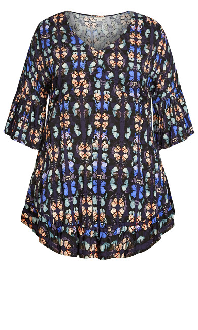 Harper Tunic - navy butterfly