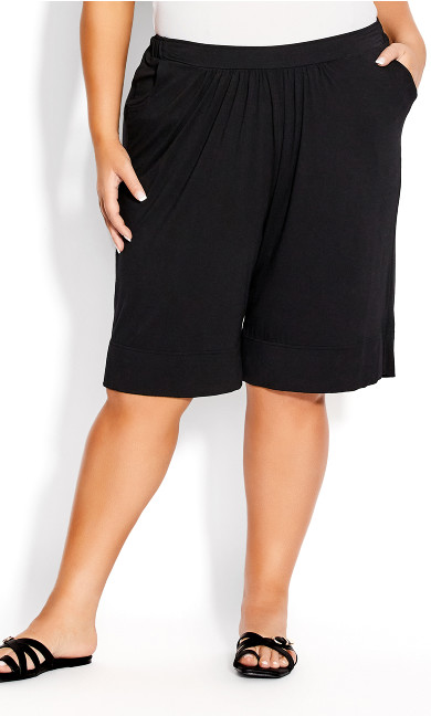 Knit Hem Short - black