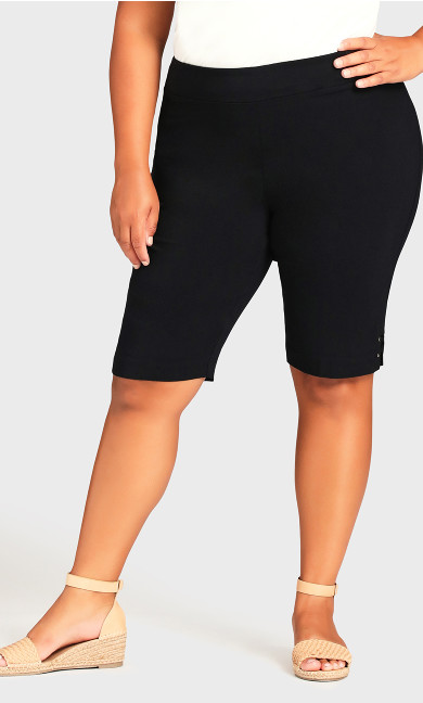 Super Stretch Rivet Short - black