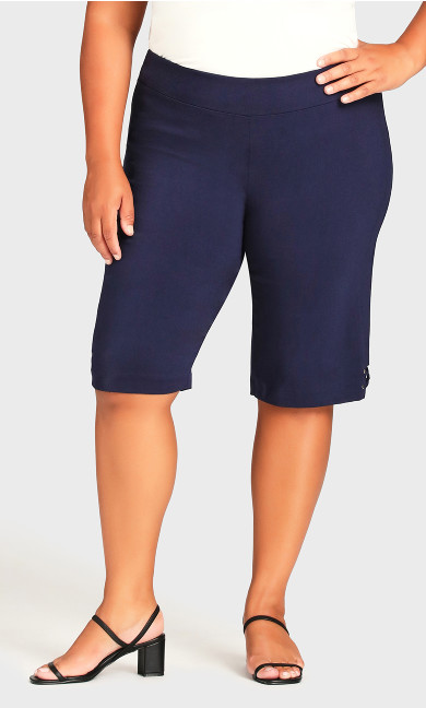 Super Stretch Rivet Short - navy