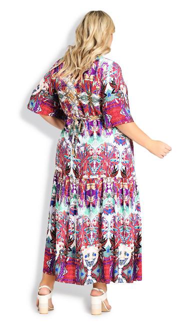 Val Print Dress - abstract print