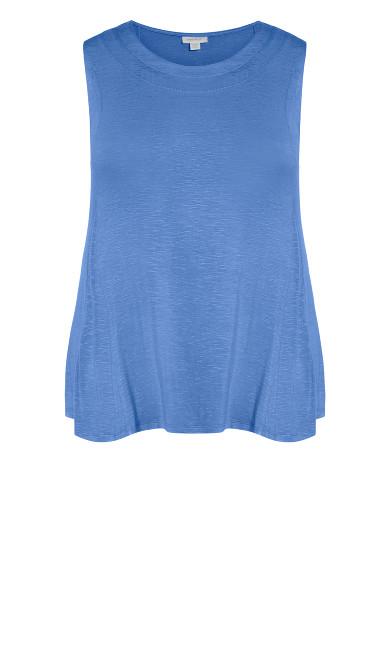 Fit N Flare Tank - indigo blue