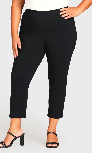 Super Stretch Crop Pant - black
