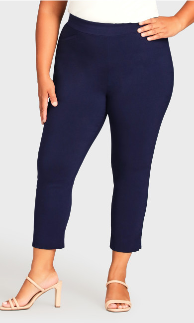 Super Stretch Crop Pant - navy