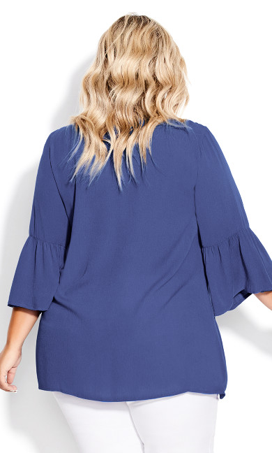Colette Pintuck Top - blue