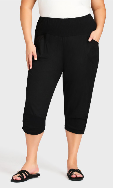 Sandy Crop Pant - black