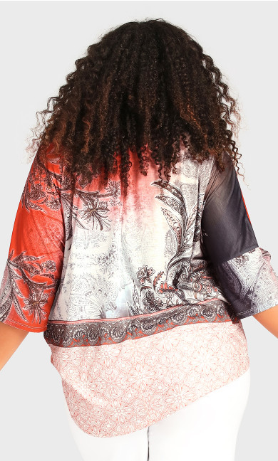 Point Front Top - border print