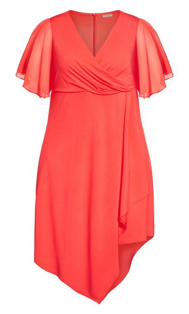 Leona Wrap Dress - coral