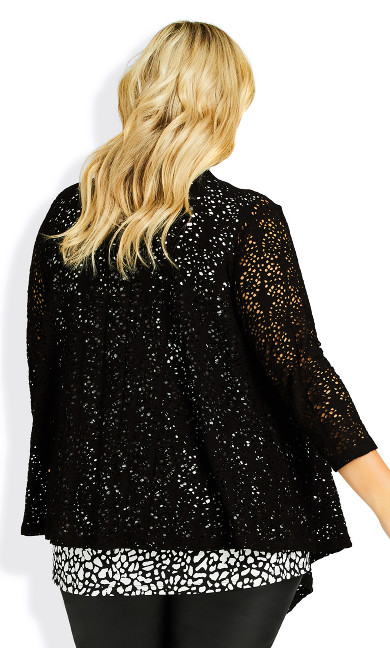 Liz Lace Cardigan - black